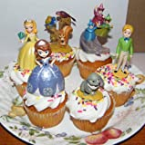 Disney Princess Sophia The First Cake Toppers / Cupcake Decorations Set of 6