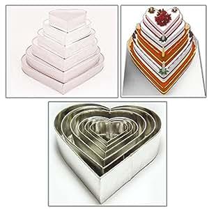 euro tins multi layer cake pans wedding cake pan heart 6 tier cake
