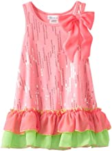 Bonnie Jean Little Girls39 Neon Foil Dress