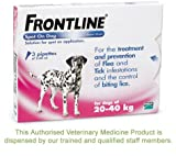 Frontline Spot On Flea Drops Large Dog 20-40Kg 3Pk