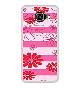 ifasho Modern Art Design animated cloth Pattern of flower Back Case Cover for Samsung Galaxy A3 (2016)