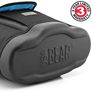 Deluxe DSLR Zoom Camera and Gear Holster Bag by USA Gear - Works with Canon , Nikon , Pentax , Fujifilm , Samsung and More Cameras and Accessories