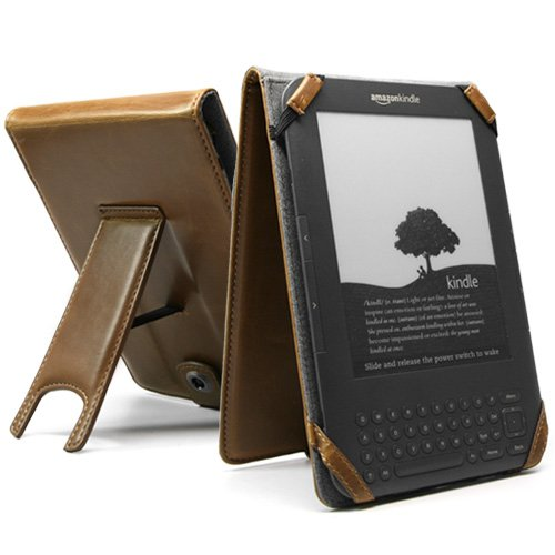 "BoxWave Sienna Leather Vertical Flip Kindle Case (Fits 6"" Display, Latest Generation Kindle)"