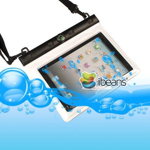 i-Beans(TM) ipad mini防水ケース/シースルーポーチ タッチパネル操作可能 コンパス + ストラップ付属 Waterproof Case for ipad mini全2色(ホワイト5064-2)