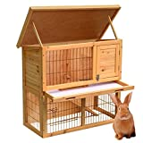 Gotobuy-36-Wooden-Rabbit-Hutch-Pet-Guinea-Pig-Cage-Two-Tiers
