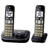 Panasonic KX-TGD222M Cordless Phone with Answering Machine- 2 Handsets