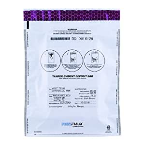 MMF Industries FREEZFraud Deposit Bags, 12 x 16 Inches, 100 Bags Per Pack, White (236210406)
