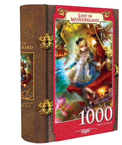 Masterpieces Lost in Wonderland Book Box Assortment Jigsaw Puzzle (1000-Piece)