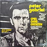PETER GABRIEL GAMES WITHOUT FRONTIERS - HERE COMES THE FLOOD 45 rpm single