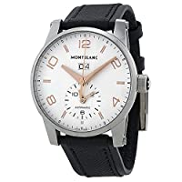 Montblanc Timewalker Automatic White Dial Black Leather Mens Watch 110579 by Montblanc