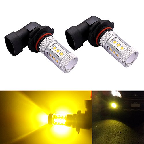 DunGu H10 9145 LED Bulbs Projector 80W Epistar LED Fog Driving Light Daytime Running Light (Golden Yellow) (Pack of 2) (Fog Lights Ford F150 2014 compare prices)