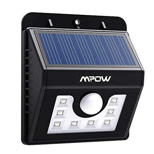 Patio Lights Amazon Ca: Mpow LED Solar Light, Bright Security Lighting Outdoor