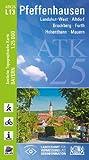 ATK25-L13 Pfeffenhausen (Amtliche Topographische Karte 1:25000): Landshut-West, Altdorf, Bruckberg, Furth, Hohenthann, Mauern (ATK25 Amtliche Topographische Karte 1:25000 Bayern)