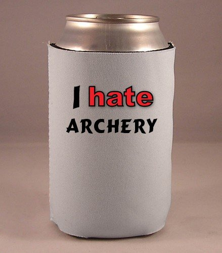 Custom Beverage Can / Bottle Cover (Coolie) with I Hate Archery