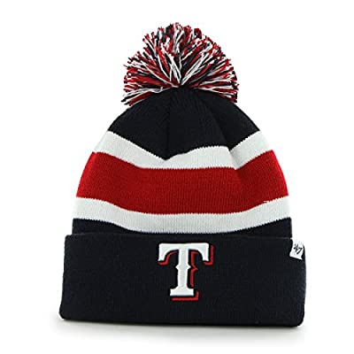 MLB Texas Rangers '47 Brand Breakaway Cuff Knit Hat with Pom