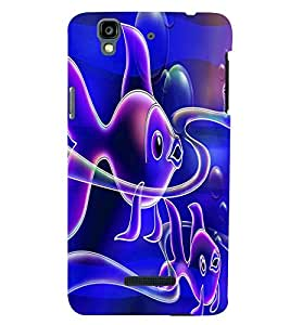 printtech Colored Fish Back Case Cover for YU Yureka::Micromax Yureka AO5510