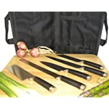 5 Piece Stainless Steel Sushi Knife Set