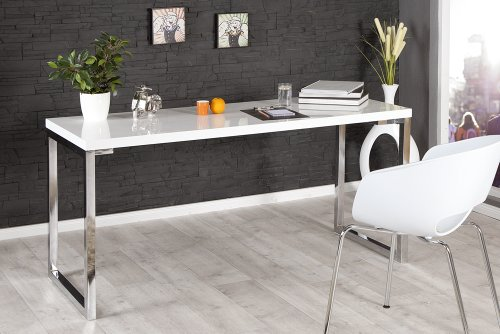 Design-Schreibtisch-WHITE-DESK-160cm-hochglanz-weiss