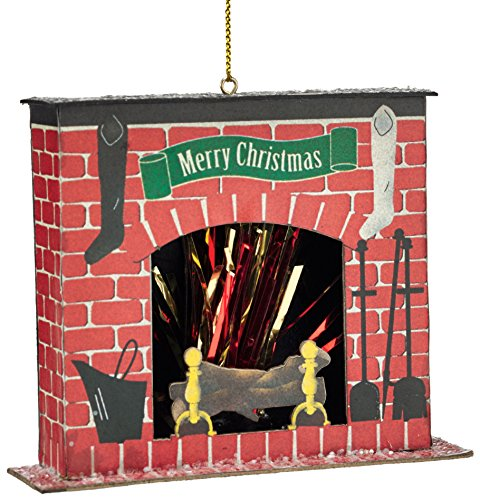 Department 56 Here Comes Santa Claus Fireplace Ornament (Fireplace Christmas Ornament compare prices)