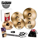 Sabian 35003B-DPS1 B8 Pro Power Cymbal Pack with LP Rumba Shaker, Evans Drum Survival Guide, Sabian Cymbal Care Kit and 5A Pro-Mark