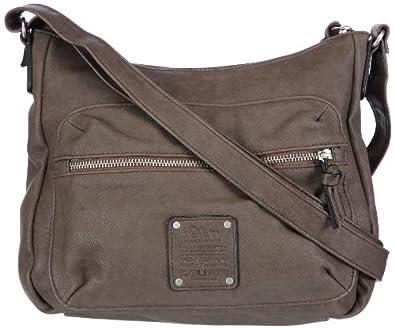 s oliver bags casual patch damen henkeltaschen grau grau 8625 25x23x8 cm. Black Bedroom Furniture Sets. Home Design Ideas