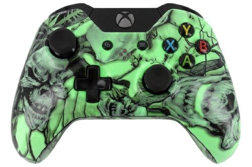 """Glow In Dark Nightmare Skulls"" Xbox One Custom Unmodded Controller [Video Game]"