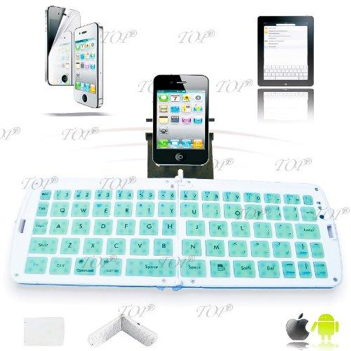 Top® Quality Android Tablet External Keyboard, Ipad Rubber Bluetooth Keyboard, Midi Keyboard, Mini Keyboard, External Keyboard For Mobile Phone, Bluetooth Keyboard For Android In Green, 6~8 Days Delivery To Usa!
