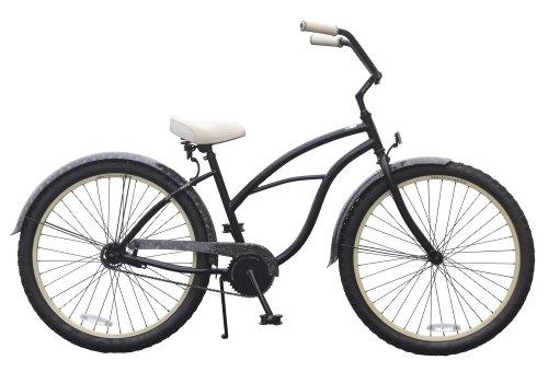 sixthreezero Women's Lace Single Speed Beach Cruiser Bicycle, Black, 26-Inch