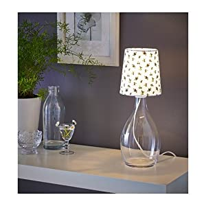 Table lamp base, clear glass