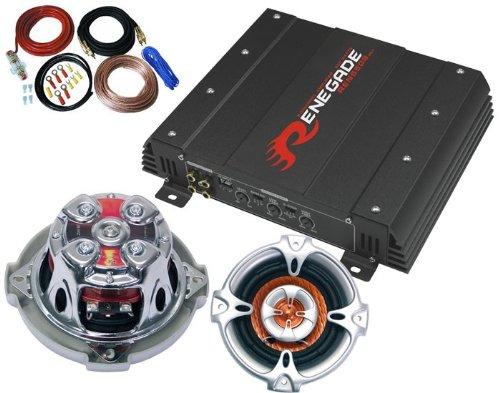 550W Auto SET Endstufe Einbaulautsprecher Kabel