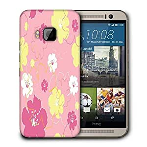 Snoogg Green Small Spots Printed Protective Phone Back Case Cover For HTC One M9