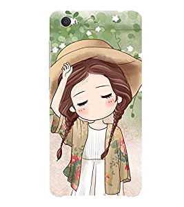 ifasho Lovely Girl with Hat Back Case Cover for VIVO X5Pro