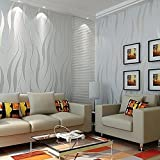 Aruhe® 10M Elegant Vliestapete Wand Tapete 3D Optik Design Wandtapete