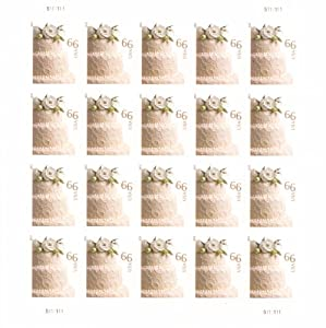 wedding cake sheet of 20 x 66 cent u s postage stamps office products. Black Bedroom Furniture Sets. Home Design Ideas