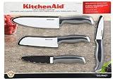 KitchenAid Chefs Ceramic Knife Set, Black