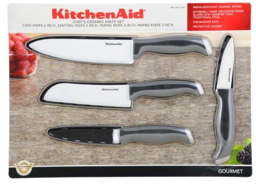 Kitchenaid Chef'S Ceramic Knife Set, Black