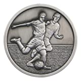 70mm Antique Silver Football Medal MP301AS