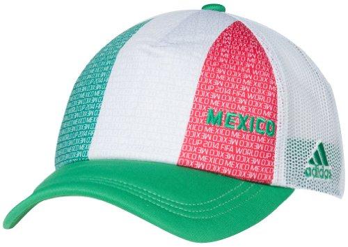 Mexico Adidas 2014 FIFA World Cup Adjustable Mesh Back Trucker Hat