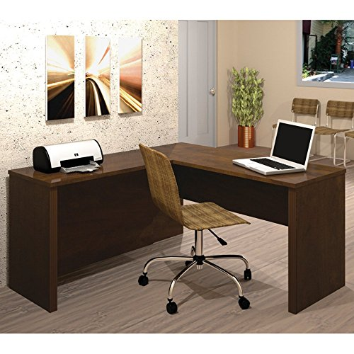 Bestar Prestige + L-Desk - Chocolate (Commercial L Shape Desk compare prices)