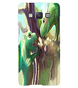 ColourCraft Cute Lizards Design Back Case Cover for SAMSUNG GALAXY A7