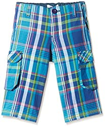 People Boys' Shorts (P30502164781200_Blue_2-3 Yrs)