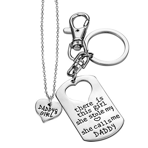 ELOI Daddy's Girl Necklace Father Daughter Jewelry Dad Gifts From Daughter Gift for Father 17 inch
