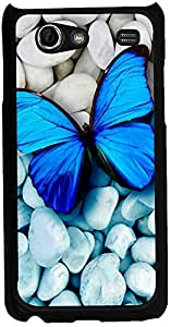 Printvisa 2D-SGSA-D8167 Animal Butterfly Case Cover For Samsung Galaxy S Advance I9070
