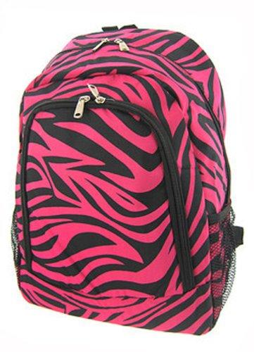 Zebra Pink Black Trim Backpack