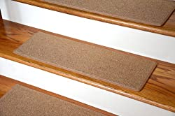"Dean Carpet Stair Treads 23"" x 8"" - Gold - set of 13"