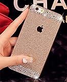 iPhone 6 Plus scenario ,LA GO GO(TM) Beauty Luxury Diamond Hybrid Glitter Bling hard Shiny Sparkling by using gem Rhinestone Cover scenario for Apple iPhone 6 Plus (5.5) - Retail Packaging (Gold, iPhone 6 Plus)