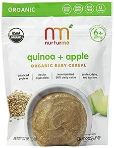 NurturMe Organic Infant Cereal, Quinoa Plus Apple, 3.7 Ounce