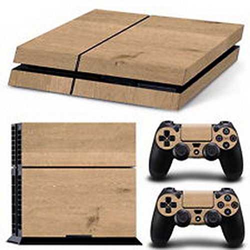 eXtremeDecal-Wood-Grain-Body-Decal-Skin-Sticker-For-Playstation-4-PS4-Console2-Controllers-XDi67320