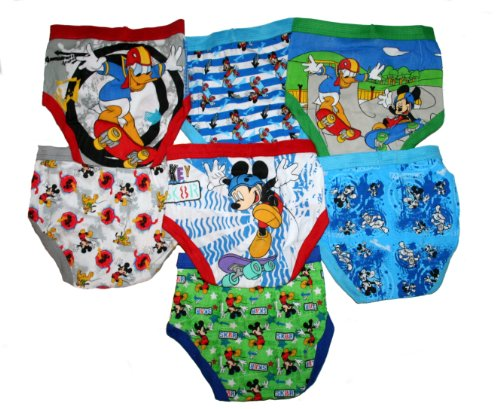 Mickey Mouse Clubhouse Toddler Little Boy'S Briefs 7 Pack (4T) front-88596