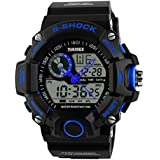 UniqueBella Uhr watches Jungen Armbanduhr Analog Digital LED Wasserdicht